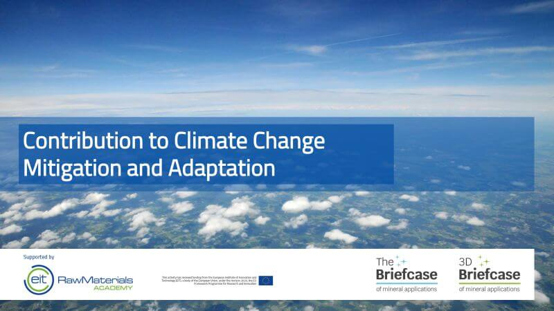 Contribution to Climate Change Mitigation and Adaptation